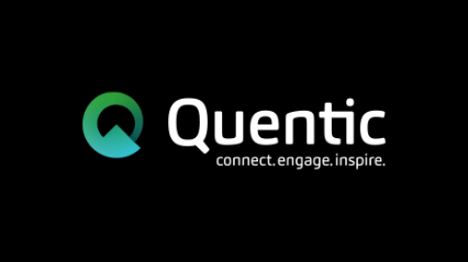 Quentic logo black background